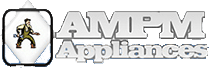 AMPM appliances logo, appliance repair service